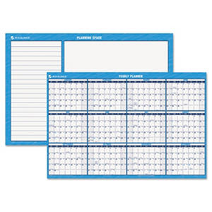 AT-A-GLANCE - Horizontal Erasable Wall Planner, 48 x 32, Blue/White -  2016
