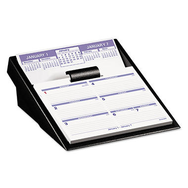 AT-A-GLANCE - Flip-A-Week Desk Calendar and Base - 5 5/8 x 7 - 2014