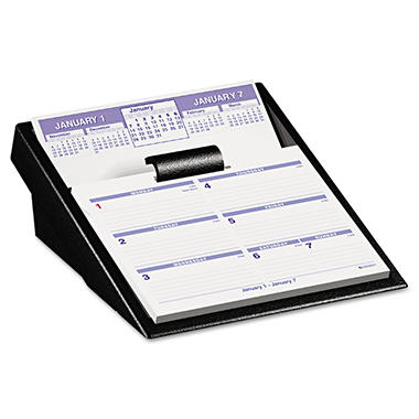 AT-A-GLANCE Flip-A-Week Desk Calendar Refill, 5 5/8 x 7, White, 2017