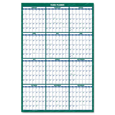 "AT-A-GLANCE Vertical Erasable Wall Planner, Yearly Calendar, 32"" x 48"" -  2015"