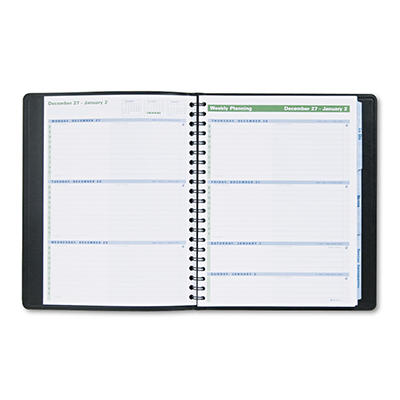 AT-A-GLANCE The Action Planner Recycled Weekly Appointment Book, Black, 8 1/8 x 10 7/8 -  2015