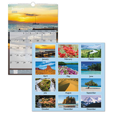 AT-A-GLANCE - Recycled Scenic Monthly Wall Calendar - Jan-Dec - Wall - 12 x 17 - 2014