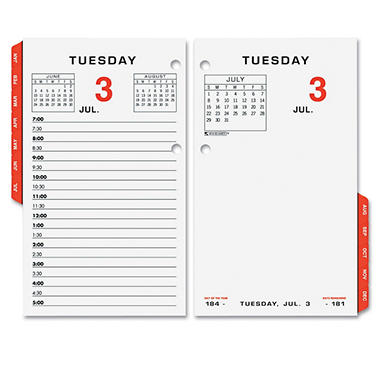 AT-A-GLANCE - Two-Page-Per-Weekday Calendar Refill, 3 1/2