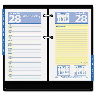 AT-A-GLANCE - QuickNotes Recycled Desk Calendar Refill - 3 1/2 x 6 - 2014