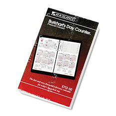 "AT-A-GLANCE - Burkhart's Day Counter Recycled Desk Calendar Refill, 4 1/2"" x 7 3/8"" -  2015"