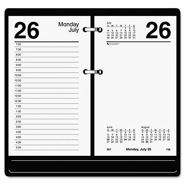 AT-A-GLANCE - Desk Calendar Refill, 3 1/2 x 6, White -  2016