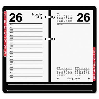 AT-A-GLANCE - Desk Calendar Refill with Tabs, 3 1/2 x 6, White -  2016