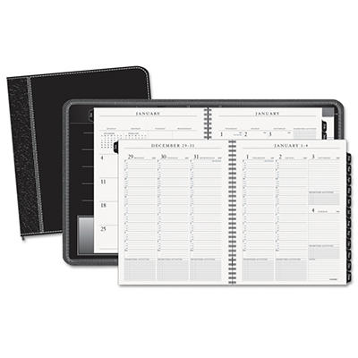 AT-A-GLANCE Executive Weekly/Monthly Appointment Book, Black, 8 1/4 x 10 7/8 -  2015