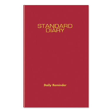 AT-A-GLANCE - Standard Diary  Recycled Daily Reminder - Red - 5 3/4 x 8 1/4