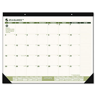 "AT-A-GLANCE - Recycled Desk Pad, 22"" x 17"" -  2015"