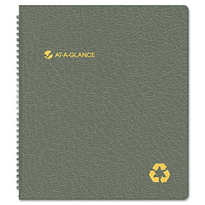 AT-A-GLANCE Recycled Monthly Planner, 9 x 11, Black, 2016-2017