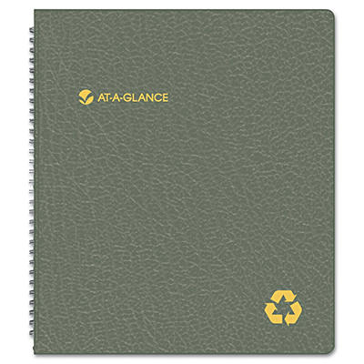 "AT-A-GLANCE - Recycled Monthly Planner, Black, 9"" x 11"" -  2015-2016"