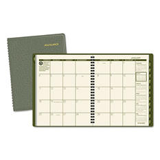 "AT-A-GLANCE Recycled Monthly Planner, Green, 6 7/8"" x 8 3/4"" -  2015"