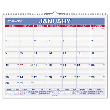 "AT-A-GLANCE Recycled Wall Calendar, 15"" x 12"" -  2015"