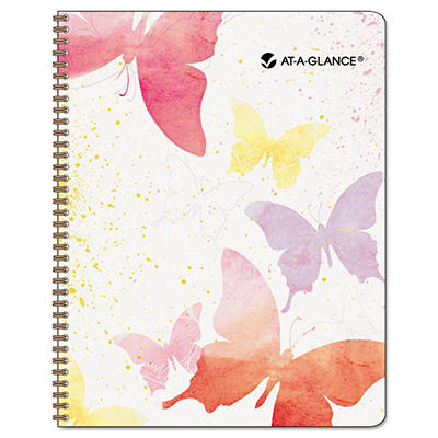 """AT-A-GLANCE Recycled Watercolors Monthly Planner, Design, 6 7/8"""" x 8 3/4"""" -  2015"""