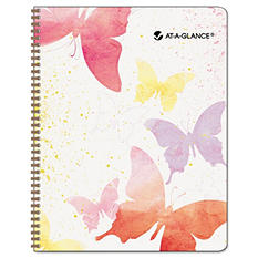 "AT-A-GLANCE Recycled Watercolors Monthly Planner, Design, 6 7/8"" x 8 3/4"" -  2015"