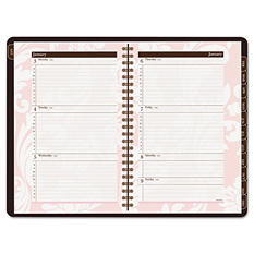 AT-A-GLANCE Sorbet Weekly/Monthly Appointment Book, 5 1/2 x 8 1/2, Brown/Pink, 2017