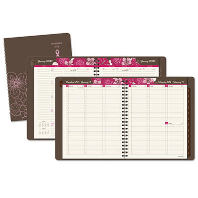 AT-A-GLANCE Sorbet Weekly/Monthly Planner, 8-1/4 x 10, Brown -  2015