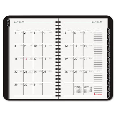 AT-A-GLANCE Weekly/Monthly Planner, Hourly Appointments, 4-7/8 x 8, Graphite -  2015