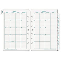 Franklin Covey - Original Dated Monthly Planner Refill, January-December, 5-1/2 x 8-1/2 -  2016