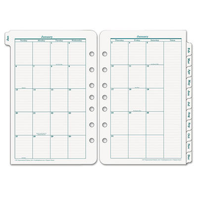 FranklinCovey Original Dated Monthly Planner Refill, January-December, 5-1/2 x 8-1/2 -  2015