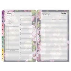 Franklin Covey - Blooms Dated Daily Planner Refill, January-December, 4-1/4 x 6-3/4 -  2016