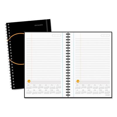 "AT-A-GLANCE Planning Notebook With Reference Calendar, Black -  6"" x 9"""