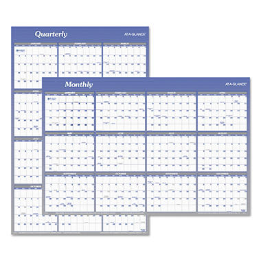 AT-A-GLANCE Vertical/Horizontal Erasable Wall Planner, 24