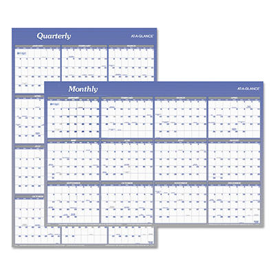 "AT-A-GLANCE Vertical/Horizontal Erasable Wall Planner, 24"" x 36"" -  2015"