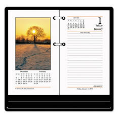 AT-A-GLANCE - Photographic Desk Calendar Refill, 3 1/2 x 6 -  2016