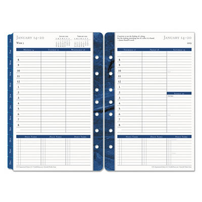 FranklinCovey Monticello Dated Weekly/Monthly Planner Refill, 5-1/2 x 8-1/2 -  2015