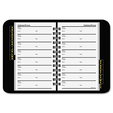 AT-A-GLANCE - Telephone/Address Book - 4-7/8 x 8 - Black