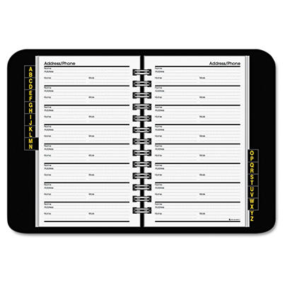 AT-A-GLANCE - Telephone/Address Book, 4-7/8 x 8 -  Black
