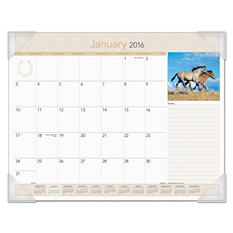 AT-A-GLANCE - Horses Recycled Monthly Desk Pad, 22 x 17 -  2016