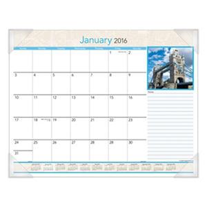AT-A-GLANCE - European Destinations Desk Pad Calendar, 22 x 17 -  2016