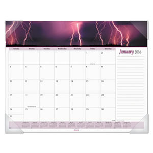 AT-A-GLANCE - Mother Nature Recycled Monthly Desk Pad, 22 x 17 -  2016