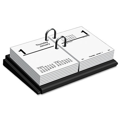 "AT-A-GLANCE Desk Calendar Base, Black -  3"" x 3 3/4"""