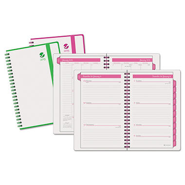 AT-A-GLANCE Color Play Weekly/Monthly Planner, 4 7/8 x 8 -  2015-2016