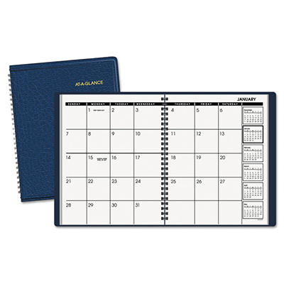 AT-A-GLANCE Monthly Planner, 6-7/8 x 8-3/4, Navy -  2015