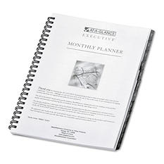 AT-A-GLANCE Executive - Executive Recycled Monthly Planner Refill, 6-7/8 x 8-3/4 -  2015