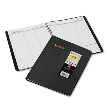 AT-A-GLANCE - Recycled Weekly Academic Appointment Book - Black - 8 1/4 x 10/7/8 - 2013-2014