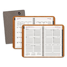 AT-A-GLANCE Contemporary Wirebound Weekly/Monthly Planner, 4 7/8 x 8 -  Gray 2015