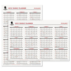 AT-A-GLANCE Wounded Service Member Project Erasable Wall Calendar, 24 x 36 -  2015