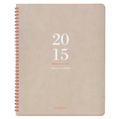 AT-A-GLANCE Collections Monthly Wirebound Planner, 8 3/8 x 11 -  2015-2016