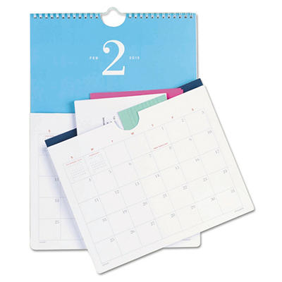 AT-A-GLANCE Collections Monthly Wall Calendar With Pockets, 10 x 14 -  2015