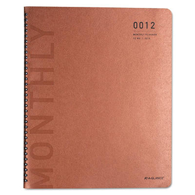 AT-A-GLANCE Collections Monthly Wirebound Planner, 8 1/2 x 11, Copper/Black -  2015-2016