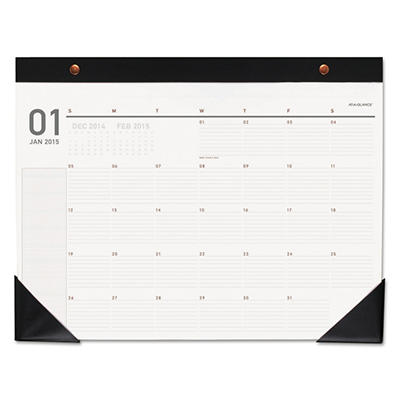AT-A-GLANCE Collections Monthly Desk Pad, 22 x 17, Black Corners -  2015