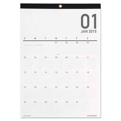 AT-A-GLANCE Collections Monthly Wall Calendar, 12 x 16 1/4 -  2015