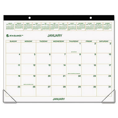 At-A-Glance 12-Month Desk Pad Calendar