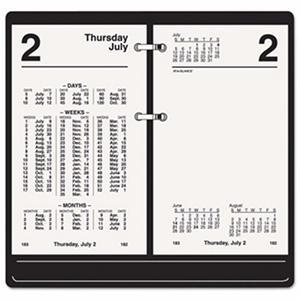 AT-A-GLANCE - Financial Desk Calendar Refill, 3 1/2 x 6, White -  2016